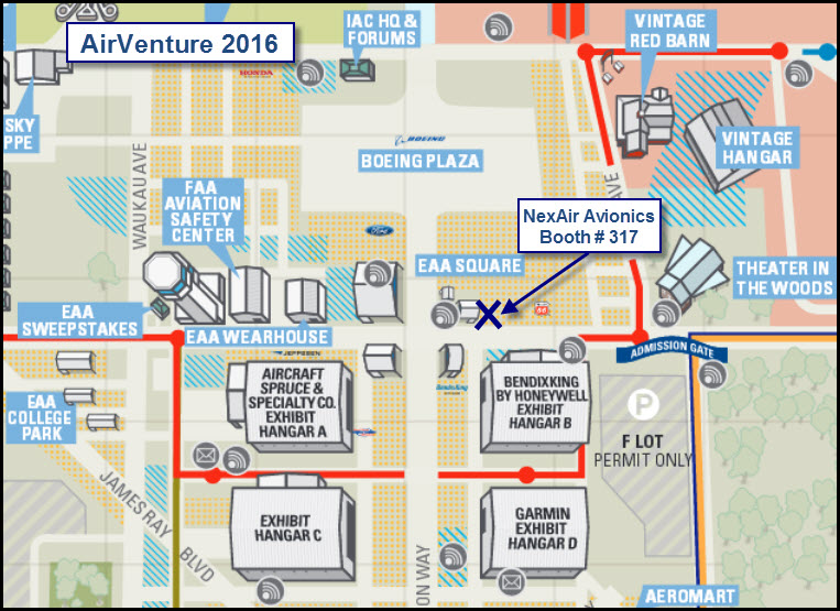2016 NexAir at OSH map