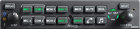 AMX240 Audio Panel with Stereo Intercom