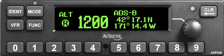 AXP340 Mode S Transponder with ADS-B Out