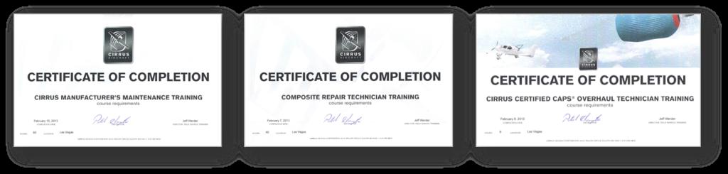 Cirrus-Certificates