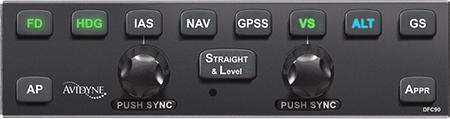 Avidyne DFC90 Attitude-Based Digital Autopilot
