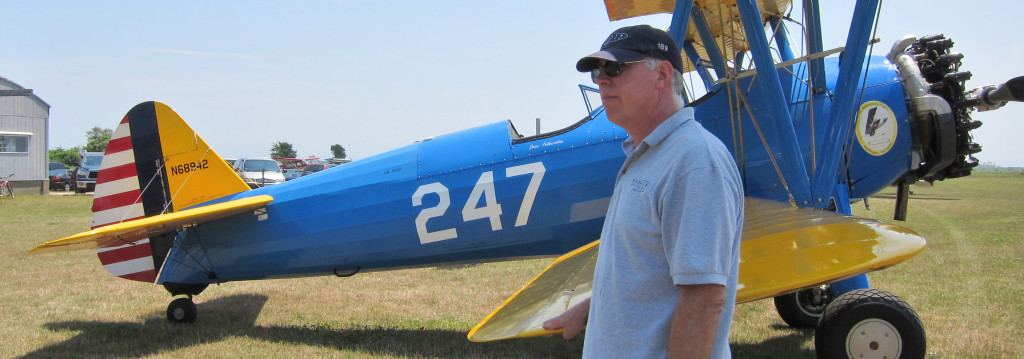 Dave Fetherston with his fully restored Stearman