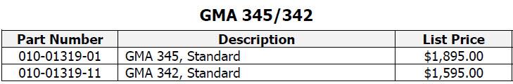 GMA345 335 price