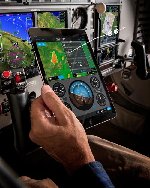 Garmin Pilot App with Flight Stream 210 Wireless Interface