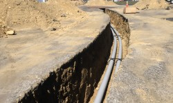 Sewage and Electrical lines have been placed