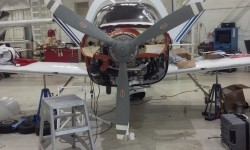 Body damage repaired, new engine hung, and new prop installed - it can return to NexAir