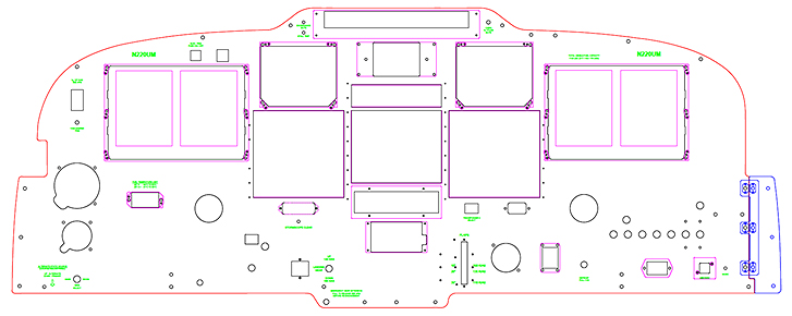 Panel layout for Piper Meridian N220UM