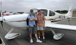 Dave and Matt picking up project airplane in California