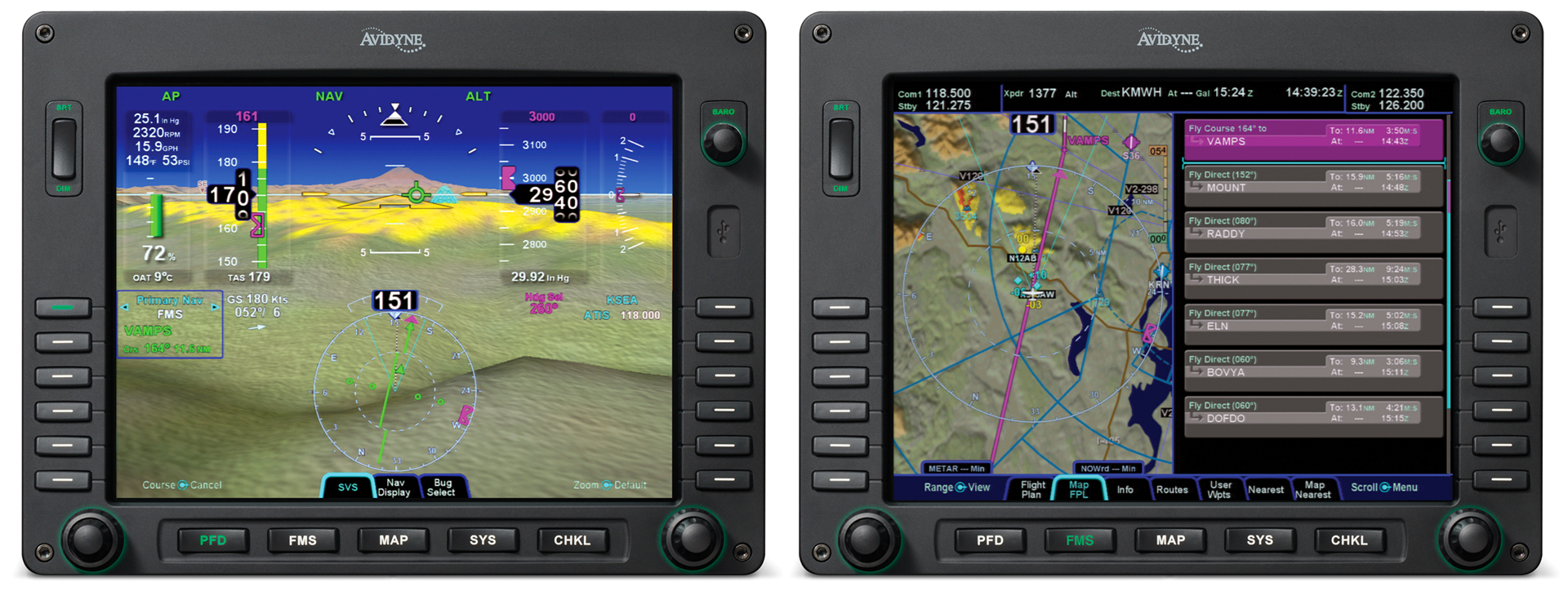 Avidyne's Synthetic Vision running on Entegra Release 9