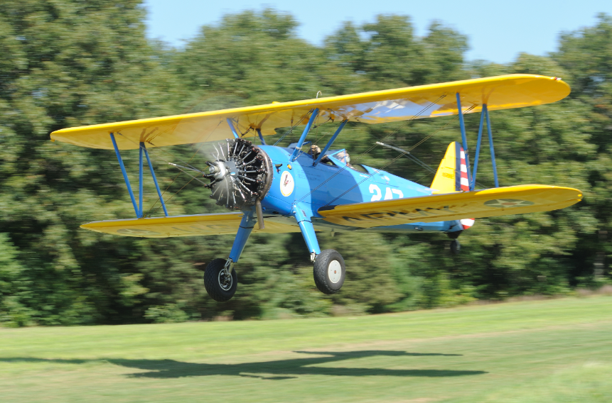 Stearman in Flight